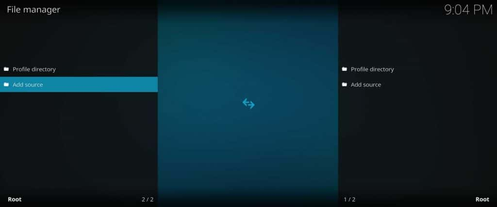 add new kodi repository source in file manager