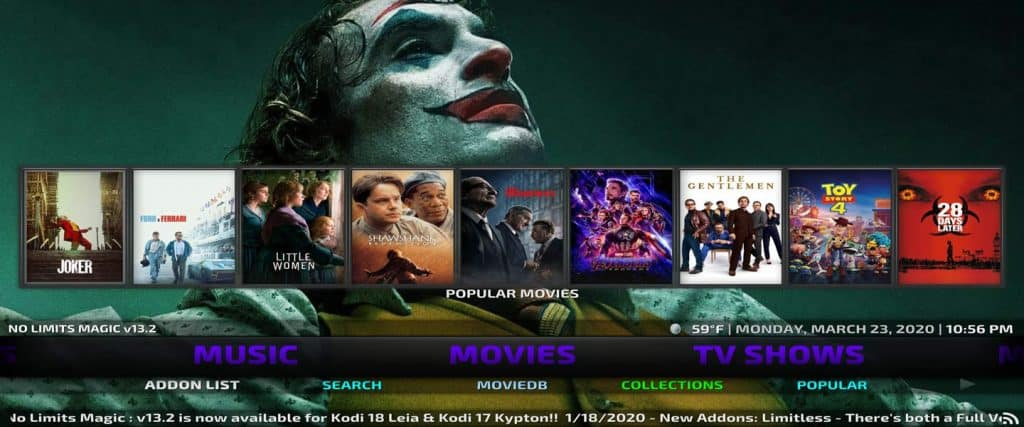 free streaming movies in no limits magic build for kodi on jailbroken firestick 4k