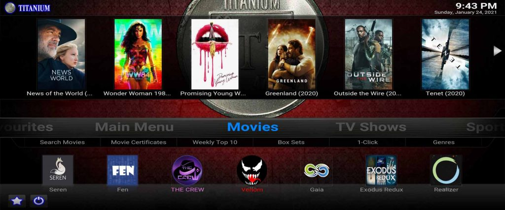 the best working cached torrent streaming kodi addons installed in titanium build from supreme builds wizard